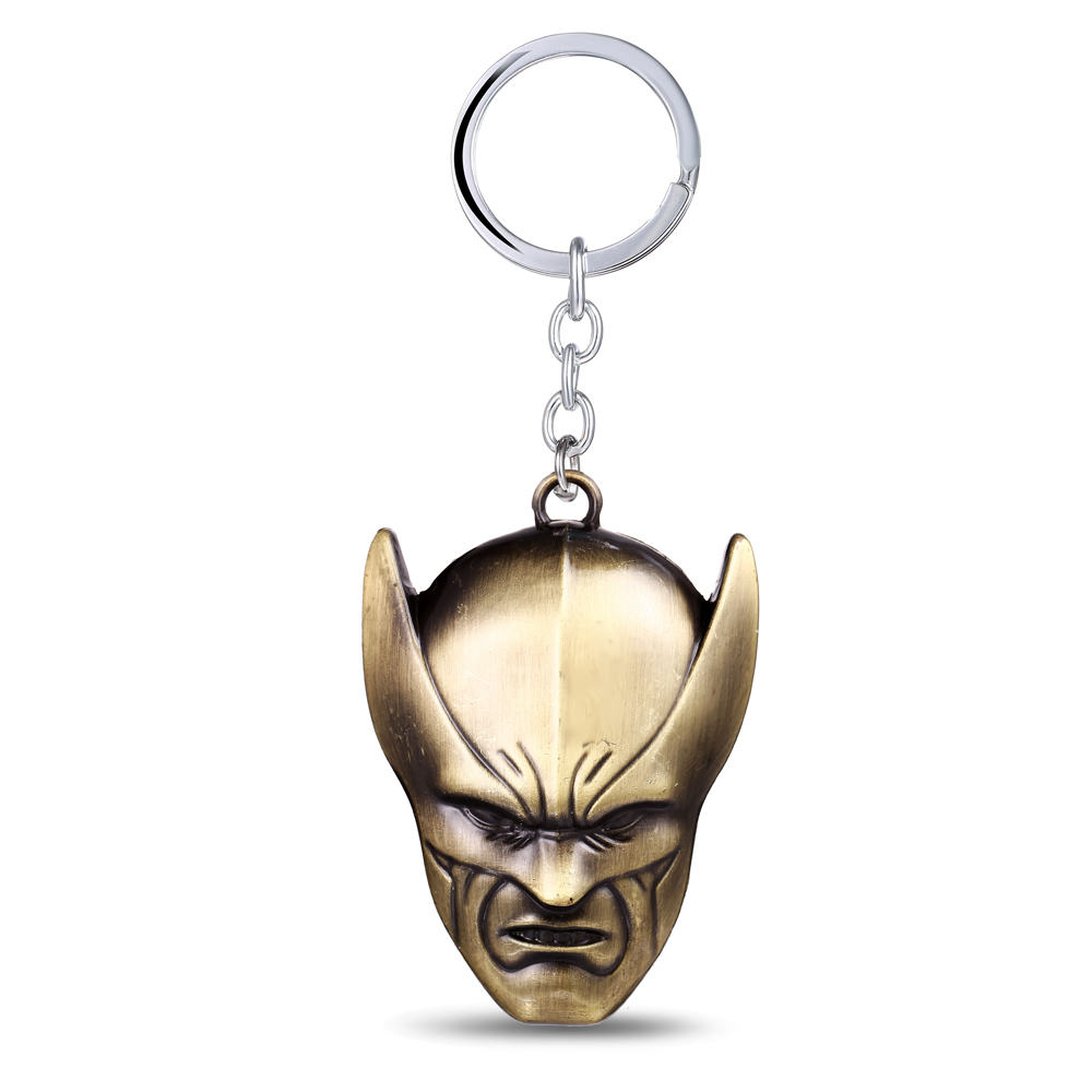 MS JEWELS Movie Fans Gifts Jewelry The Moive X-Men Mask Key Chain Quality Metal Key Rings For Present Chaveiro Keychains 2 Color