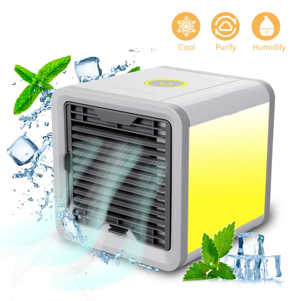 2018 Personal Space Air Cooler Arctic 3-in-1 Portable Mini Cooler with 7 Colors LED Lights Humidifier & Purifier Home Office