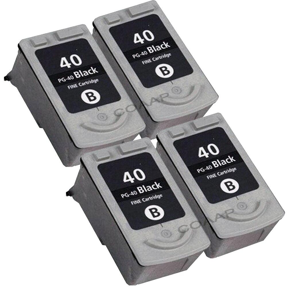 4x Black ink cartridge PG 40 PG40 for Compatible Canon PG 40 Pixma Pixma ip1200 ip1300