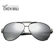 DIDI Cool Aviator Polarized Sunglasses Men Luxury Black Gold Metal Frame Hipster Sun Glasses Driving Goggle Coating Oculos H623