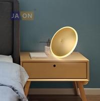 Led 북유럽 철 아크릴 알루미늄 미니멀리즘 라운드 황금 ufo led lamp. led light. table lamp. desk lamp. led 책상 램프 침실