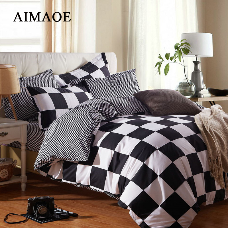 Black And White Bedroom Styling Love Bedroom Decor Real Madrid Bedroom Wallpaper Union Jack Bedroom Wallpaper: 2016 Black And White Striped Plaid Bedding Quilt Wind