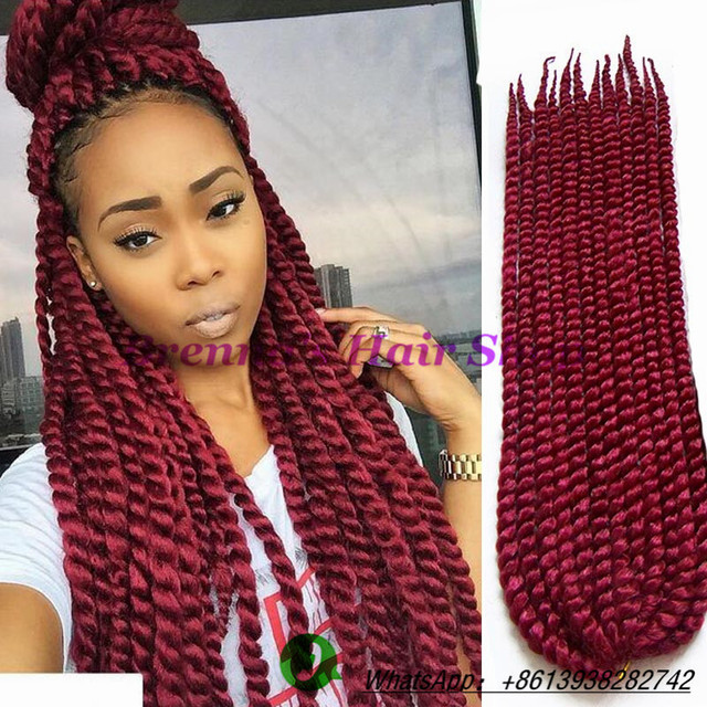 Crochet Braids Ombre Hair : ombre braiding hair kanekalon two tone crochet twist hair braid ...