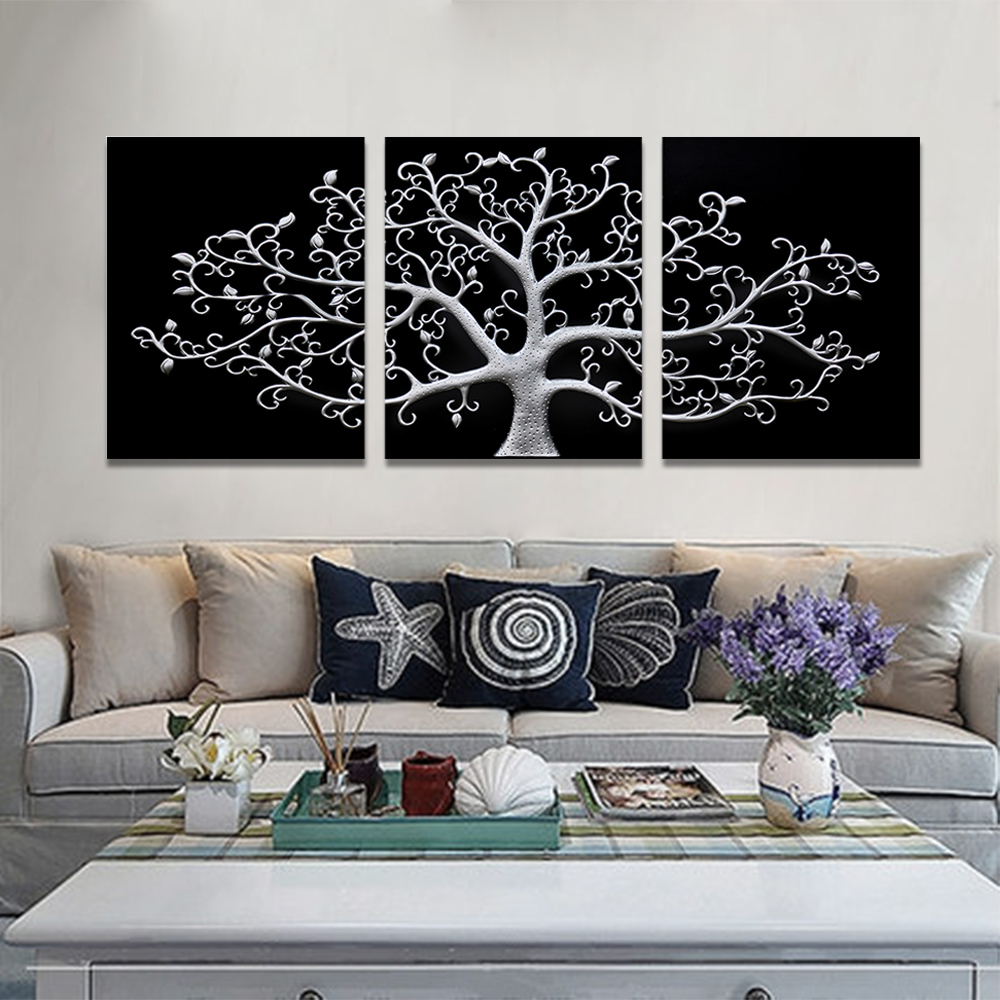 Unframed 3 Abstract Canvas Painting Cameo Stereoscopic Wall Art Decor Prints Wall Pictures For Living Room Wall Art Decoration