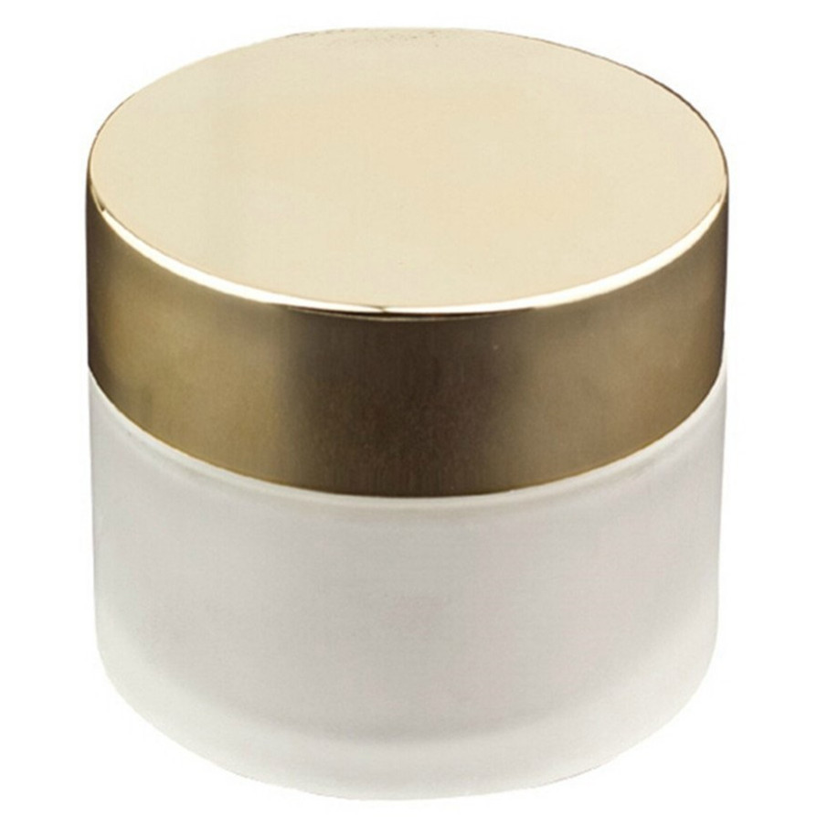 Matte Glass 2 oz Amber Salve Jar w Golden Lid 4 pkin Storage