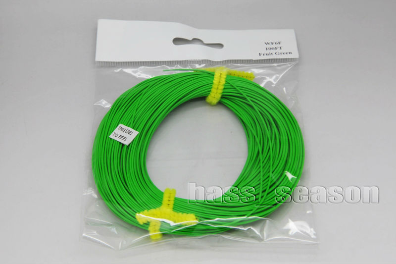 Fly Fishing Line Weight Forward Floating FLY LINE WF-6F 100FT Fruit Green