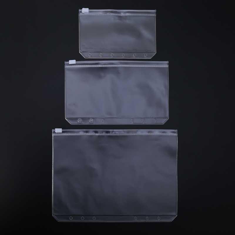 クリアpvc収納袋ポーチ用ノートブック日記手帳ジッパービジネスカード