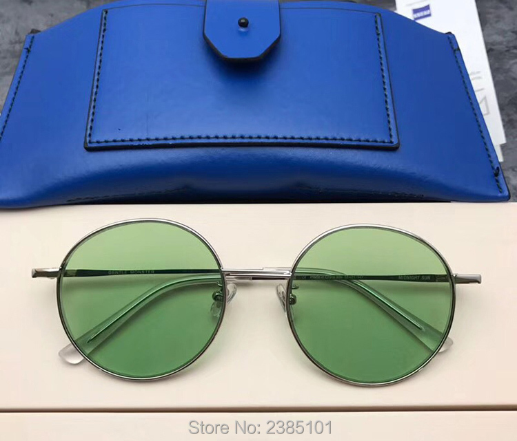 Marke Sonnenbrille silver Frauen black Gentle Gläser Candy Sun Shades Farbe Designer Midnight Luxus Uv400 Runde gold Green orange Korea 2018 Weibliche 5qtTwxU0Y