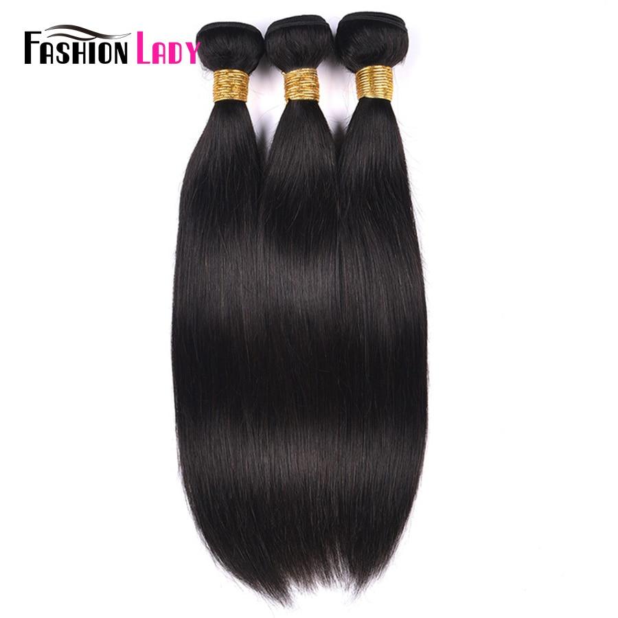 Fashion Lady Pre-colored Peruvian Straight Hair Bundles Human Hair Natural Color Hair Extension 1/3/4 Bundle Per Pack Non-Remy