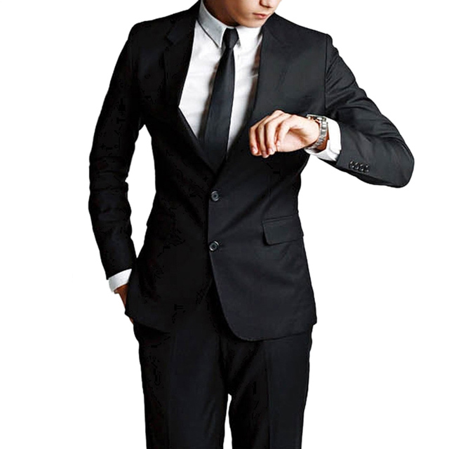 2016 New Men Suits (Jacket+Pants+Tie) Custom Slim Fit Tuxedo Brand Fashion Bridegroon Business Formal Wedding Suit Casual Blazer