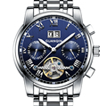 GUANQIN New 2017 Tourbillon Watches Mechanical Watches Men Steel Strip Waterproof Luminous Automatic Watch men montre homme
