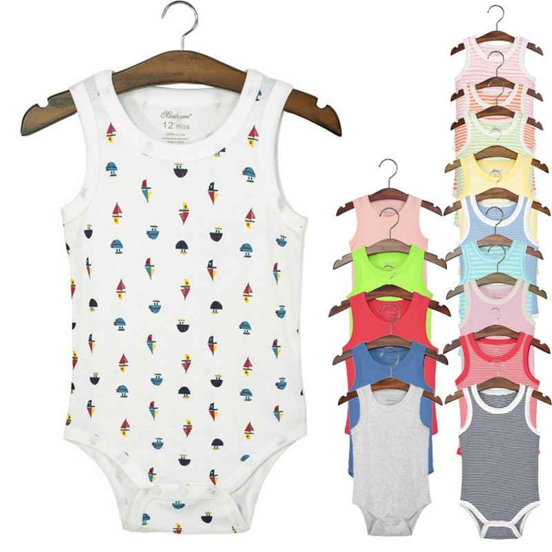 Y72 Newborn Summer Romper,100%Cotton Triangular Siamese Vest Multicolor Optional Baby Romper Underwear Baby Clothes Summer Dress