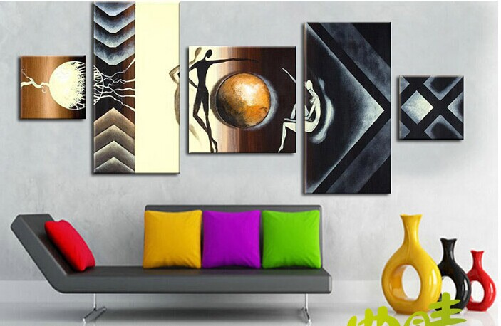 Modern fashion abstract oil  painting on canvas character paintings NO frame