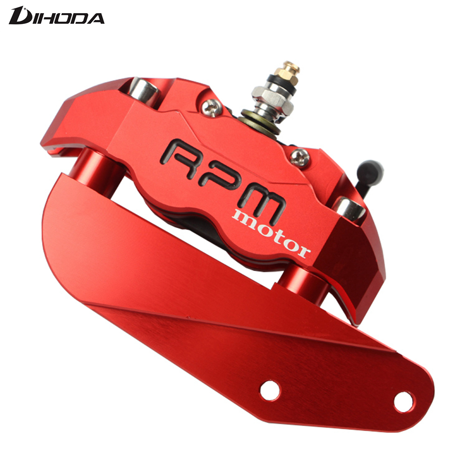 Motorcycle Hole pitch 82mm Brake Calipers with Adapter Bracket For 220mm Disc Brake Pump knight / Hussars Flat Fork modification keoghs real adelin 260mm floating brake disc high quality for yamaha scooter cygnus modify