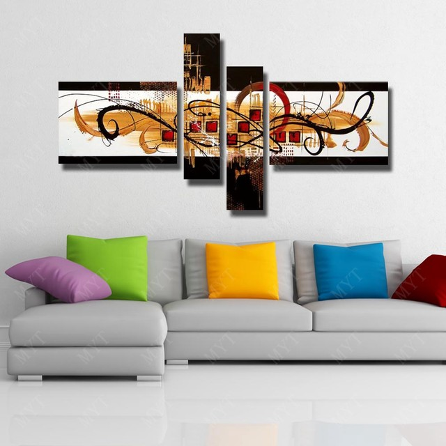 paint living room online decorating a long wall in shop picture no framework handmade painting image