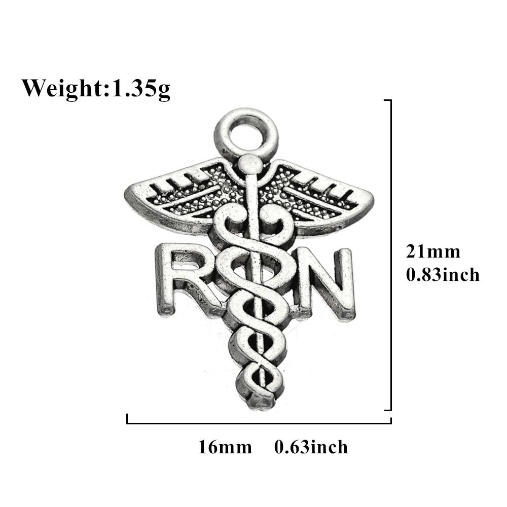 Teamer RN/BSN/NP/LPN Charm Registered Nurse Pendant Medical Bracelet ...