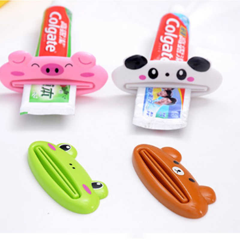 2Pcs Cute Animal multifunction squeezer / toothpaste squeezer Home Commodity Bathroom Tube Cartoon Toothpaste Dispenser