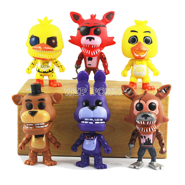 10 Cm Game Five Nights At Freddy's Action Figure Toys Foxy Freddy Chica PVC  Model Dolls Kids Brinquedos Opp Bag-in Action & Toy Figures from Toys &
