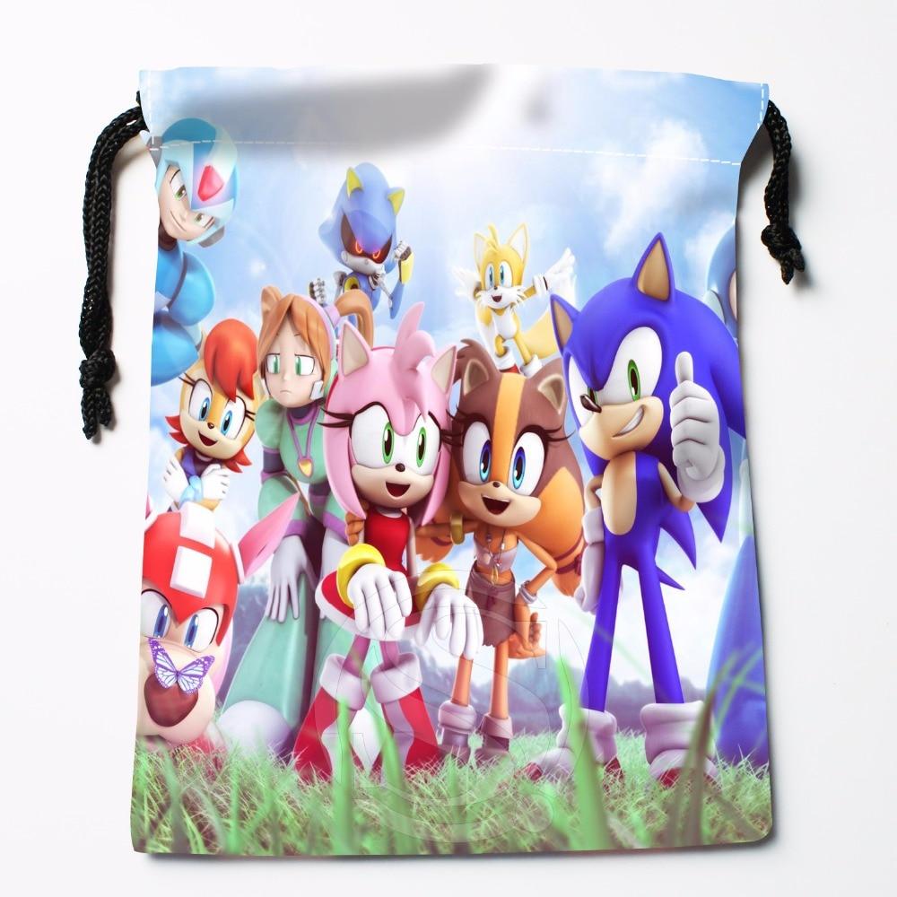 Fl-Q109 New Sonic #10 Custom Printed  Receive Bag  Bag Compression Type Drawstring Bags Size 18X22cm 711-#Fl109