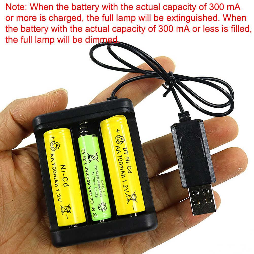 عالمي بطارية قابلة للشحن سريعة محول للشحن USB 3/4 فتحات الناتج شاحن بطارية بطارية شحن أداة ل AA/AAA