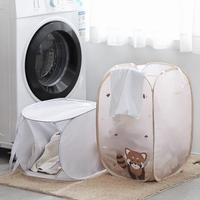 1 pc tamanho grande dos desenhos animados dobrável roupas cestas de armazenamento roupas sujas cesta de lavanderia portátil sundries organizador brinquedo recipiente|Cestos de lavanderia| |  -