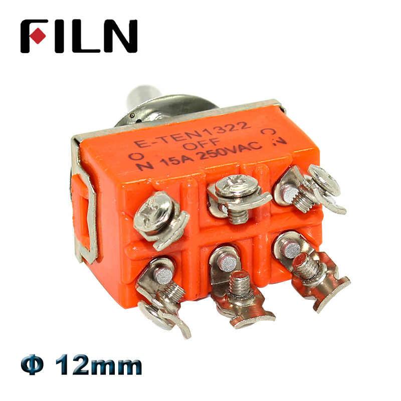 15A 250 V ON-OFF-ON-OFF-ON SPST SPDT DPDT Toggle Switch Rocker de Energia tampa à prova d' água