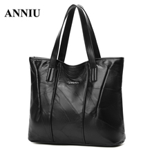 ANNIU New Fashion Women's Casual Tote lady Large capacity handbags soft leather female bag famous brand hot sale bolsos mujer
