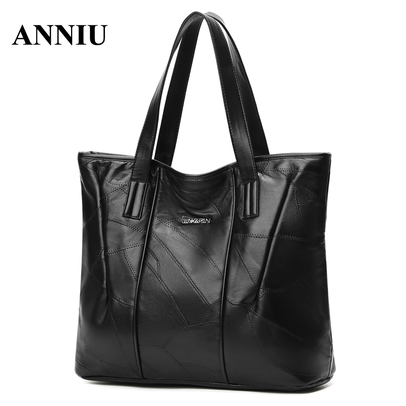 ANNIU New Fashion Women s Casual Tote lady Large capacity handbags soft leather female bag famous