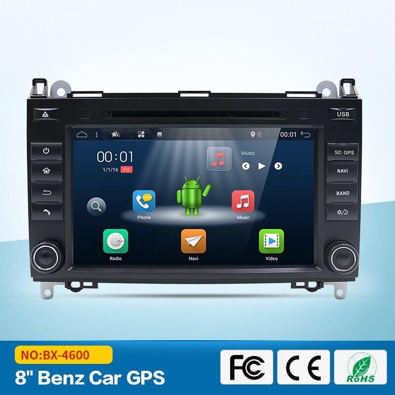 Bosion Android 7.1.1 8 Inch Car DVD Player For Mercedes/Benz/Sprinter/B200/B-class/W245/B170/W209/W169 Wifi GPS Radio eunavi 2 din android 8 0 octa 8 core car dvd player for benz sprinter vito w169 w245 w469 w639 b200 radio stereo gps wifi 4g ram