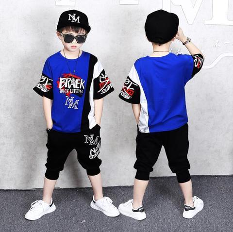 camisetas shorts manga curta 2 pcs set