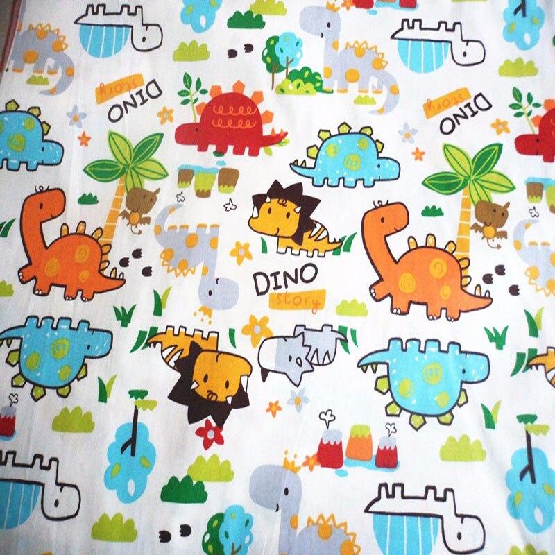 ③Lindo 50x160 cm Cartoon dinosaurio dragón mundo impreso algodón ...