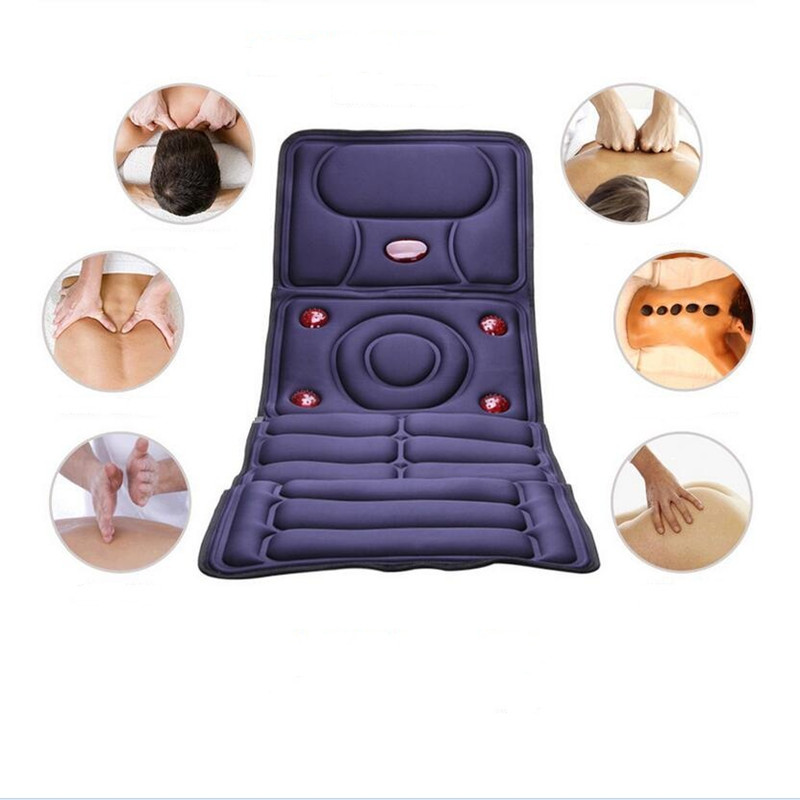 ФОТО 2016 Collapsible Full-body Electric Massage Mattress Health Care Multifunction Chair Cushion Blanket I086
