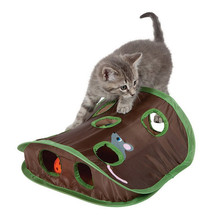 Shop Owner Recommended Pet Cat Mice Game Intelligence Toy Bell Tent With 9 Hole Cat Playing Tunnel perros mascotas accesorios