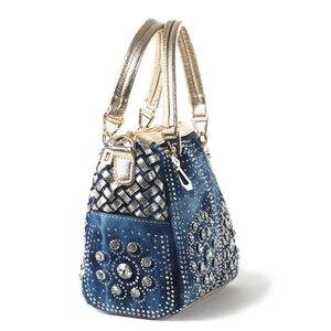Image 3 - Ipinee カジュアルレディーストートバッグデザイナークリスタルダイヤモンド女性メッセンジャーバッグ有名なブランドの高級ハンドバッグの女性のバッグ
