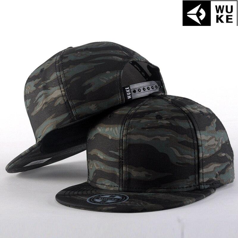 2018 Hot motif de Camouflage de mode impression chapeau plat casquette de baseball Hip Hop chapeau pour homme Butin Hommes Relances
