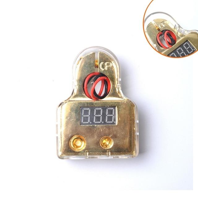 jump start cable 2Pcs 0/4/8 Awg Car Auto Positive Negative Battery Terminals Platinum Gold VOLTAGE DIGITAL LED DISPLAY FREE