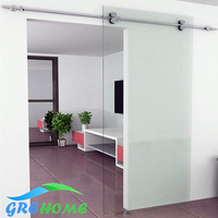 6.6FT Stainless steel interior door sliding shower door system