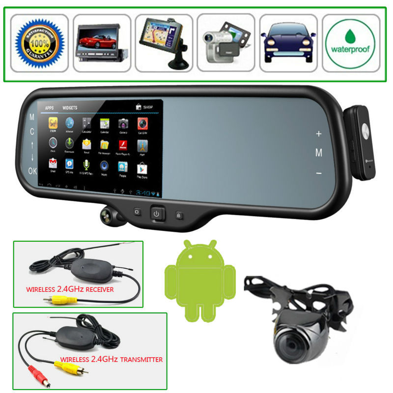 5 Quot Android Gps 1080p Car Rearview Mirror Monitor Dvr Wifi