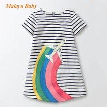 fa8725669 Malayu bebé 2018 modelos de explosión niñas vestido de verano de manga  corta Donald Duck,