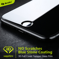 For Iphone 7 7Plus Sapphire Coating Screen Protector Blue Stone Coating More Smooth Touch Than Original