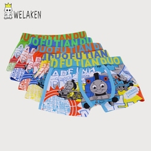 weLaken 5 Pcs/lot Cartoon Boys Underwear Soft Breathable Kids Boxer for 3-11Yrs Baby Panties Kawaii Boy Briefs Underpants