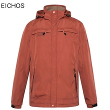 EICHOS Men Jacket Slim Fit 2017 Autumn Winter Windproof Mens Jackets And Coats Breathable Outwear Coat Hooded Men JK6818