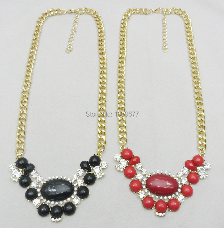 Fashion Necklace for Women 2015 Hot Sale Crystal & Resin Cab Gold Necklaces & Pendants for Women