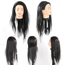 Cabeça para treino de cabeleireiros, cabeça profissional de 65cm para treino de cabeleireiro e salão de beleza, cabeleireiros