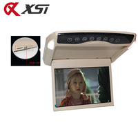 XST 10.1 Inch 1024*600 Car Roof Mount LCD Color Flip Down Monitor HD 1080P MP5 Video With USB/SD/FM Transmitter/Speaker
