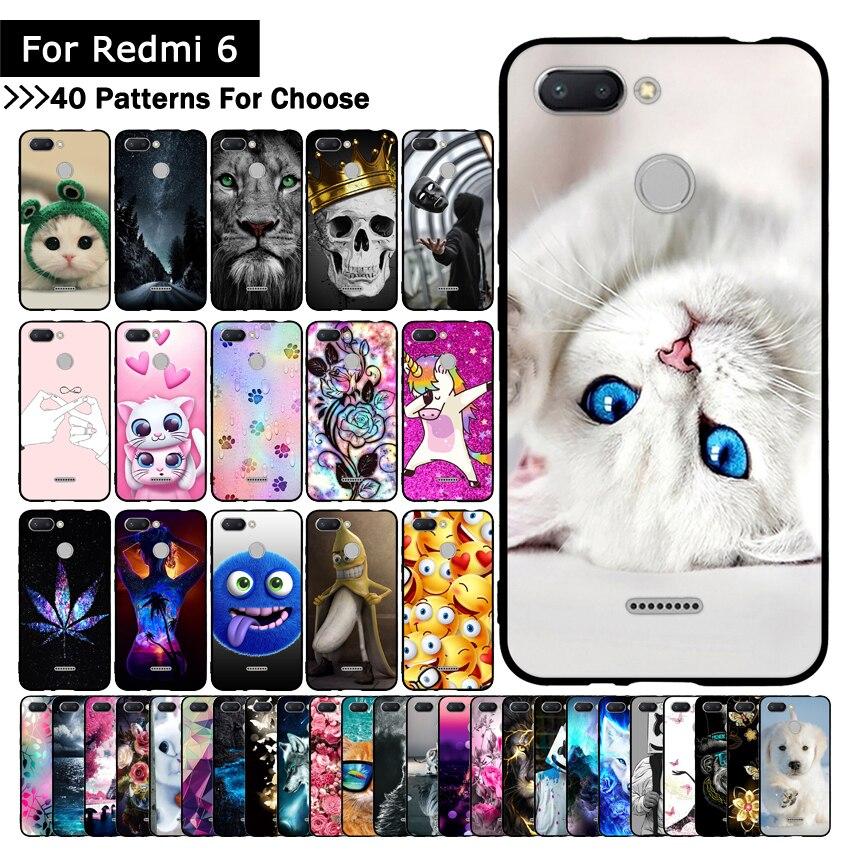 Colorful Animal Cute Case For Mi Xiaomi Redmi 6 Cover TPU Silicone Cases Printing cover for Xiaomi Redmi6 REDMI6 Fundas Shells winnie the pooh iphone case