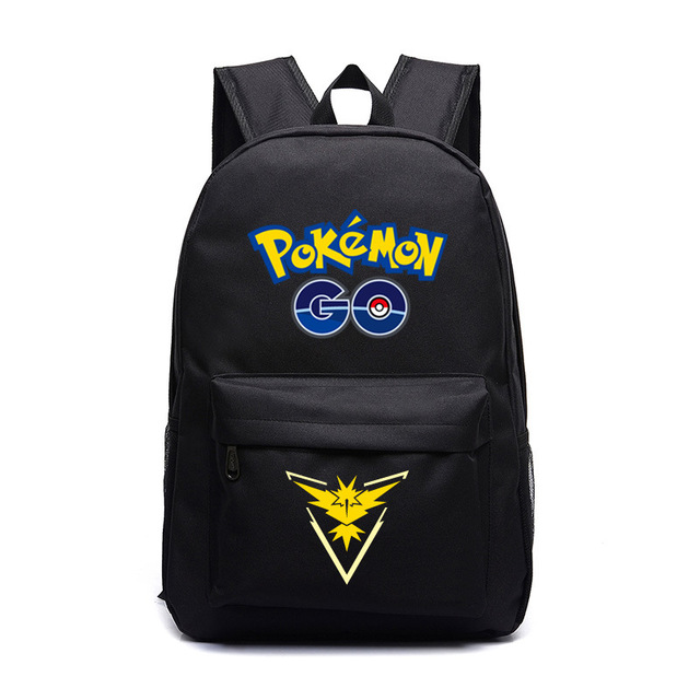 d6718a6f7a Pokemon Go Team Backpack School Bag For Womens Mens Teens School Backpacks  Pokemon Book Bag Travel Backapck