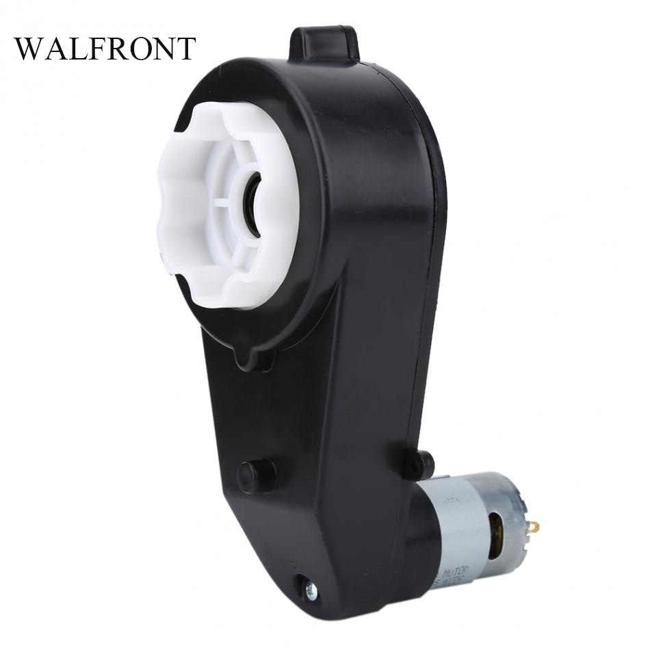 WALFRONT 12000RPM Electric Motor Gear Box Low Noise Kid Toy Car Gearbox Children Electric Motorcycle Gearbox Speed Control Tools
