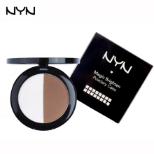 NYN 2 Color Solid Highlighters Mineral Makeup Bronzer Make Up Contour Palette Trimming Powder Pressed Mineral Cosmetics 3d Face