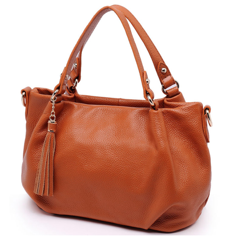 8 Color Real Skin Women Genuine Leather Handbag Calfskin Shoulder Bag Tassels HOBO Crossbody BAGS GIRL A144